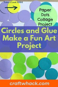 Children often get bored over weekends and holidays, but parents will be thrilled to know that simple paper circles and glue make a fun art project. Craft Whack has put together an article outlining how you can keep your little one busy by punching out different sized paper spheres on card stock or decorative paper; give your child a glue stick and an empty sheet of paper and allow them to create whatever comes to mind. Read our complete post here. #PaperDotsCollage #PaperCrafts #CraftsForKids Unique Wall Art, Diy Wall Art, Art For Kids, Crafts For Kids, Cool Art Projects, Cute Diys, Paper Decorations, Fun Art, Dots