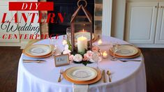 Can you believe this DIY Floral Lantern Wedding Centerpiece was made with items from Dollar Tree? This romantic DIY Centerpiece is . Dollar Tree Centerpieces, Romantic Wedding Centerpieces, Lantern Centerpiece Wedding, Diy Lantern, Wedding Lanterns, Candle Centerpieces, Centerpiece Ideas, Wedding Decorations, Table Decorations