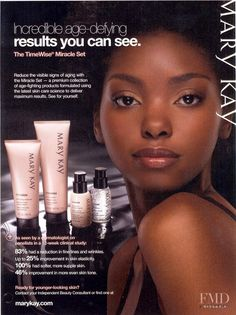 Adora Akubilo advertisement for Mary Kay Cosmetics
