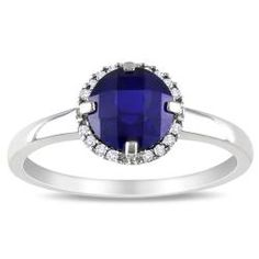 @Overstock - Created sapphire and diamond accent ring10-karat white gold jewelryClick here for ring sizing guidehttp://www.overstock.com/Jewelry-Watches/Miadora-10k-White-Gold-Created-Sapphire-and-Diamond-Accent-Ring-G-H-I2-I3/6332369/product.html?CID=214117 $219.99