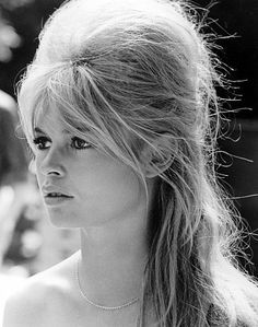 There could be a small animal hiding up in there and it would still be the best freakin' hair ever. BARDOT 4EVA