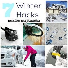 Winter is on its way, and with it may mean snow or ice for you! Here are 7 winter hacks that will save time and frustration this winter. Did you know you could make your own de-icer, check it out! Car Hacks, Home Hacks, Earthquake Kits, Winter Hacks, Winter Ideas, Winter Survival, Big Bear, Winter Time, Winter Fun