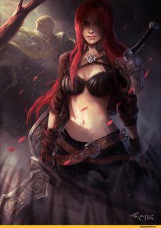 League of Legends,Лига Легенд,фэндомы,Katarina,Garen