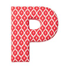 Fabric Letter P Red