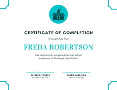 Design high school diplomas that will represent and remind graduates of their alma mater with customizable certificate templates from Canva. High School Diploma, Certificate Of Completion, Alma Mater, Certificate Templates, School Spirit, School Design, Free Printables, Graduation, Blue