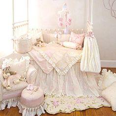 Ava 3 Piece Crib Bedding Set by Glenna Jean - http://www.247babygifts.net/ava-3-piece-crib-bedding-set-by-glenna-jean/