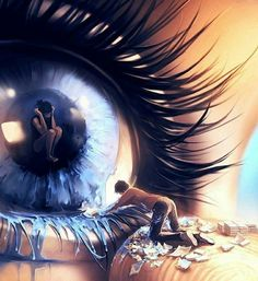 Imagen de art, eye, and cry