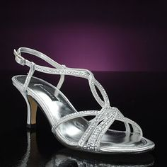 2 and 1/2 inch heel; silver; $55