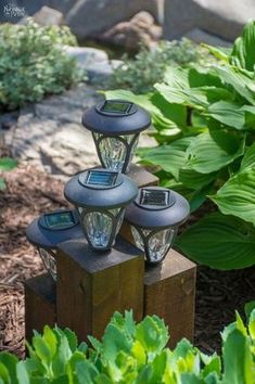 DiY Cedar Cube Landscape Lights DIY solar outdoor lights How to clean a solar panel How to make non-working the solar lights work again Simple woodworking and garden crafts Garden and backyard decor Budget garden and backyard ligthing TheNav Diy Garden, Garden Edging, Garden Crafts, Garden Ideas, Patio Ideas, Backyard Ideas, Night Garden, Garden Oasis, Garden Boxes