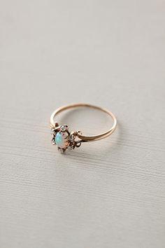 Opal & Diamond Flower Ring. Cute Jewelry, Jewelry Box, Jewelery, Jewelry Accessories, Jewelry Trends, Jewelry Stores, Walmart Jewelry, Silverware Jewelry, Bullet Jewelry
