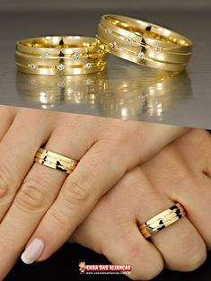 Engagement Rings Couple, Engagement Ring Cuts, Couple Rings, Gold Earrings Designs, Ring Designs, Gold Wedding Rings, Wedding Ring Bands, Bijoux Louis Vuitton, Couple Ring Design
