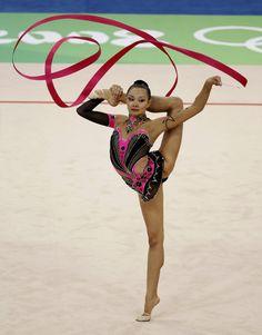 rhythmic gymnast and ribbon program