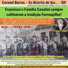 IJUÍ - RS - Memória Virtual: Francisco e Família Casalini, imigrantes e…