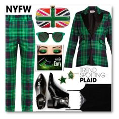 """""""(TFS)Trend Spotting: Plaid #3087"""" by shoaleh-nia ❤ liked on Polyvore featuring Charles Jeffrey Loverboy, MANGO, Dolce Vita, Alexander McQueen, Betsey Johnson and Spitfire"""