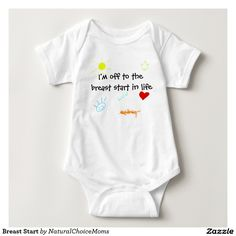 Breast Start boys design cute breastfeeding babies Tee Shirt