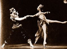Balanchine's Firebird with Gelsey Kirkland and Jacques d'Amboise. NYCB. 1970. Photo -  Fred Fehl.