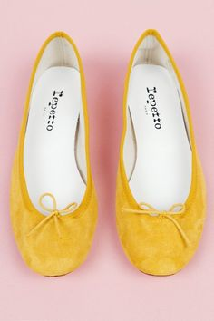 Repetto BB Ballerina flat paille // mustard yellow shoes fashion