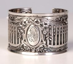 Karen Lindner Antique Sterling Napkin Ring Cuff II