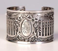 Karen Lindner Antique Sterling Napkin Ring Cuff II