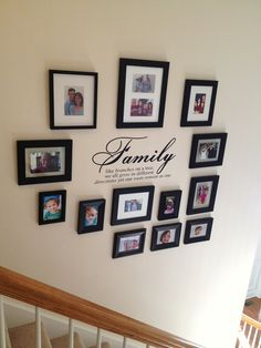 I like the quote Photo Arrangement, Front Hallway, Picture Layouts, Photo Displays, Simple House, Picture Wall, Home Projects, Family Photos, Photo Galleries