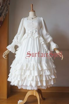 Surface spell gothicLolita custom shop * nymph * gorgeous models lantern sleeve waist length OP-Taobao