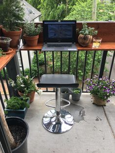 A one day build project using materials from Home Depot transformed this city balcony into a roomy garden filled workspace:) Garden Landscape Design, Landscape Designs, Apartment Balcony Garden, Paver Walkway, Backyard Lighting, Landscaping Company, Yard Design, Outdoor Rooms, Garden Styles
