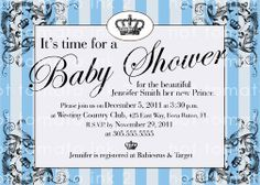 Vintage baby shower invitation for boy prince crown blue diy baby shower invitation for baby boy its a royal prince shower on etsy 1300 filmwisefo