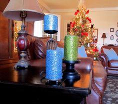 WobiSobi: Glitter Your Candles, DIY