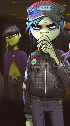 My favorite member of the Gorillaz- 2D. I believe this is from phase two.