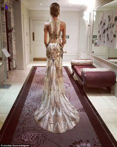 Glam from all angles: Jourdan shared a snap of her glitzy dress in all its glory