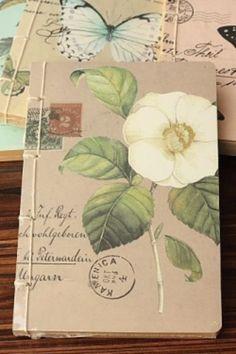Notebook Carte postale kraft - bruin