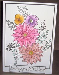 Stamped image, coloured with Tri-blend marker pens Marker Pen, I Card, Pens, Markers, Stamp, Love, Image, Color, Amor