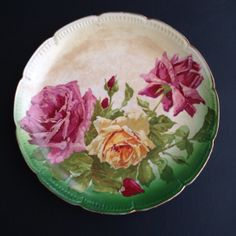Vintage Dresden China Plate / Platter by SBSGVintageCo on Etsy, $20.00