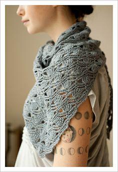 haiku crochet shawl pattern quince and co by rebecca velasquez #crochet