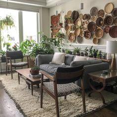 Botanical Interior, Weird Plants, Sustainable Furniture, Boho Living Room, Basket Decoration, Plant Shelves, Baskets On Wall, Modern Boho, Wall Design