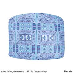 2006, Tribal, Geometric, Lt Blue Endless Print