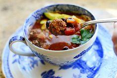 Meatball Tortilla Soup! So flavorful, soooo good. @landolakesktchn #ktchnconvo