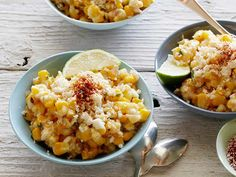 Deconstructed Mexican Style Corn Recipe : Food Network - This recipe takes all of the ingredients from traditional Mexican corn on the cob, or elote, and fashions them into an easy-to-eat summer salad.