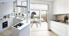Ideas que mejoran tu vida Ideal Home, Windows, Kitchen, Table, Furniture, Ideas Para, Home Decor, Website, Small Kitchens