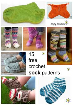Crochet Sock Patterns Every single year, I spend time looking at crochet slipper and crochet sock patterns, comparing them, collecting links and saving images on Pinterest. This year, I've decided to do something about it. Well, at least, I've decided to narrow it down. There are so m