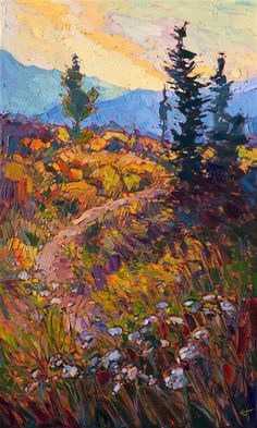 Path in Bloom - Modern Impressionism | Contemporary Landscape Oil Paintings for Sale by Erin Hanson
