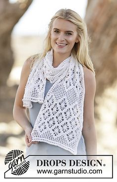Ravelry: 162-17 Diamond Feather pattern by DROPS design