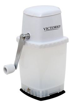 Victorio Kitchen Ice Crushers Snow Cone Hand Crank Summer Funny Drink White USA #VictorioKitchenProducts