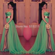 Cheap dress used, Buy Quality dress long sleeve tunic dress directly from China belt led Suppliers: Sexy Sweetheart Side Slit Mint Evening Dresses With Gold Belt 2015 Popular Prom Gowns Prom Evening Dresses