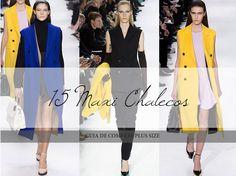 Los looks de mi armario: 15 Maxi Chalecos · Guia de Compras ( Plus Size )