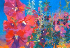 Dittebrandt – Page 3 – American Artists Series Bright Colors Art, Flower Art, Art Flowers, Garden Painting, Watercolor Flowers, Painting Flowers, Flowers Nature, American Artists, Art Images