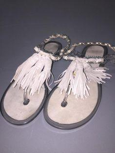 STUART WEITZMAN Gelati jelly flat sandals~Silver Composition 100% rubber~Sz 7 #StuartWeitzman #sandals