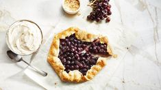 This Peanut Butter and Jelly Grape Galette is super easy to make, yet it feels so special. The Divine Flavor Jellyberries grapes in the filling remind you of grape jelly and then you get a whipped peanut butter topping. You will love it, the kids will love it, and it comes together in a snap. Just watch...