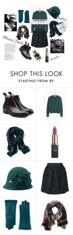 """Untitled #67"" by danai-babali ❤ liked on Polyvore featuring churchs, Old Navy, L'Oréal Paris, Betmar, Alice + Olivia, Lands' End, TravelSmith, GE, Christian Brands Gift and Balmain"