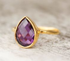 amethyst ring- I really want an amethyst ring or pendant.  May never have one but can always hope.
